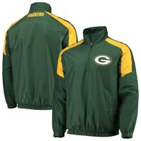 Men's G-III Sports by Carl Banks Green/Gold Green Bay Packers Half-Zip Pullover Jacket