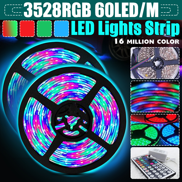 Details about  /RGB led strip lights 15M 20M 5050 DC12V RGB Flexible Tape Led Tape IR Remote New