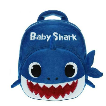BABY SHARK BACKPACK PLUSH CARTOON ANIMAL BAG FOR CHILDREN SCHOOLS KIDS BAG - BLUE