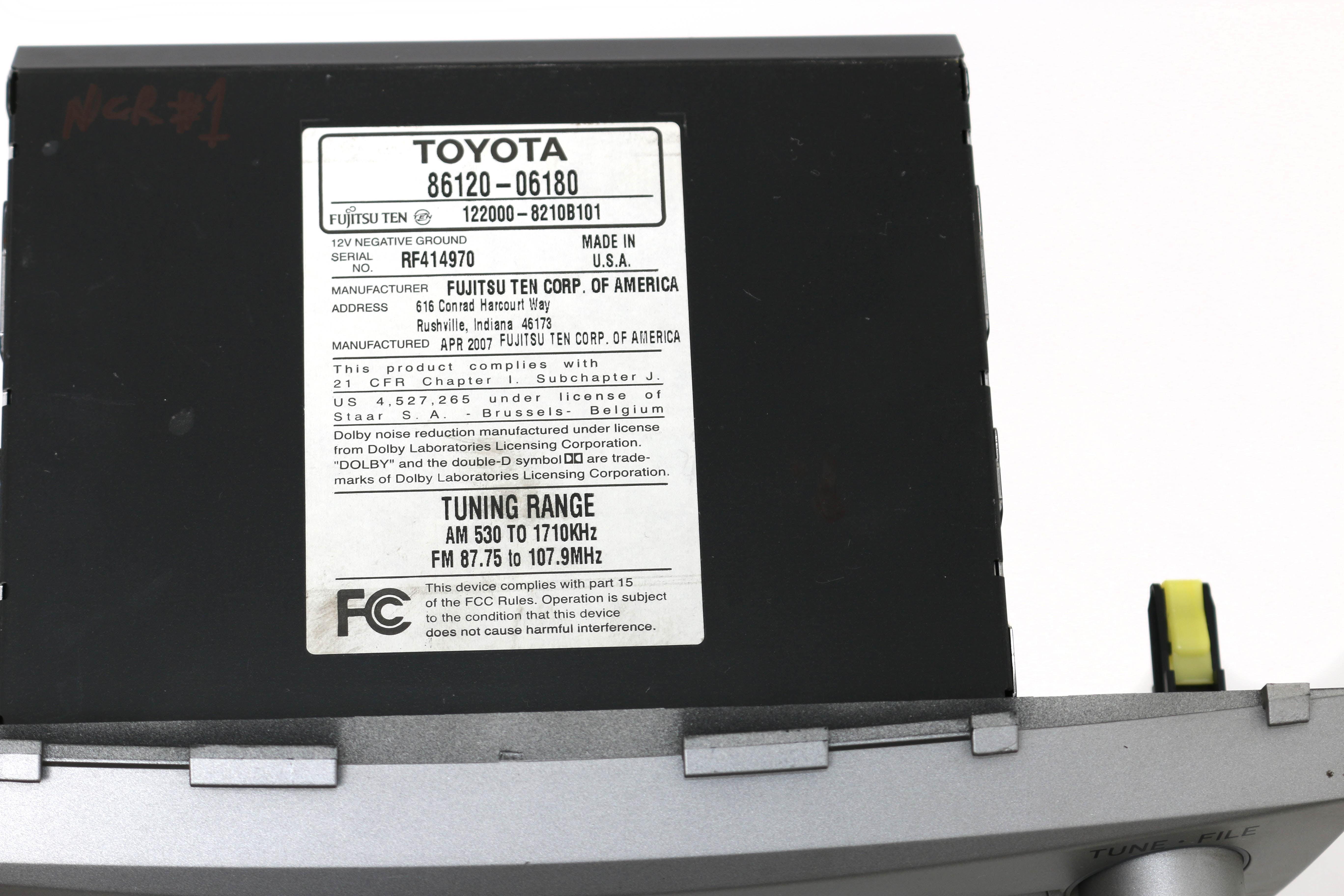 Old Fashioned Toyota Fujitsu Ten 86120 Vignette - Everything You ...