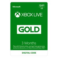 Microsoft Xbox Live 3 Month Gold Membership (Email Delivery)