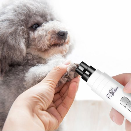 Electric Pet Nail Grinder, Ultra Quiet With Three Ports Electric Dog Nail Trimmer Long Working Time Clipper Paw Nail for Cat Hamster & Small Medium (Best Nail Grinder For Small Dogs)