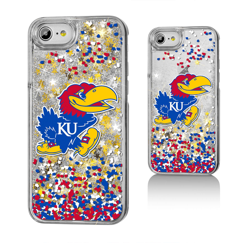 KU Kansas Jayhawks Confetti Glitter Case for iPhone 8 / 7 / 6