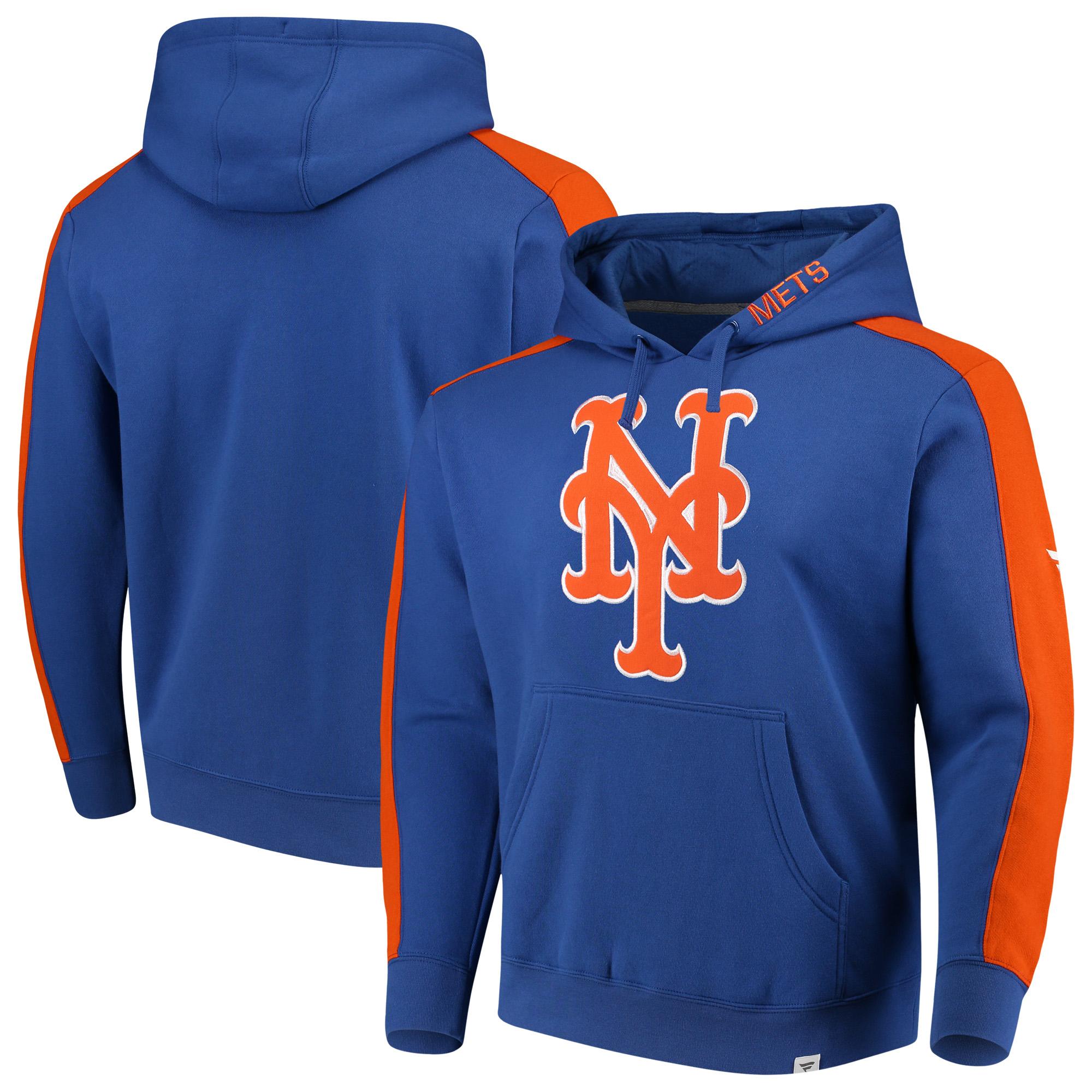 New York Mets Fanatics Branded Iconic Fleece Pullover Hoodie - Royal/Orange