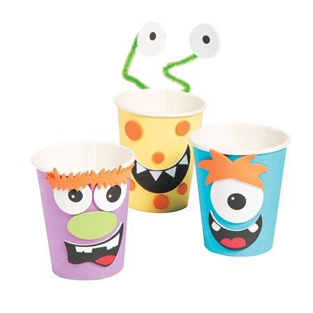 IN-13747585 Silly Monster Halloween Treat Cup Craft - Fun Halloween Crafts And Treats