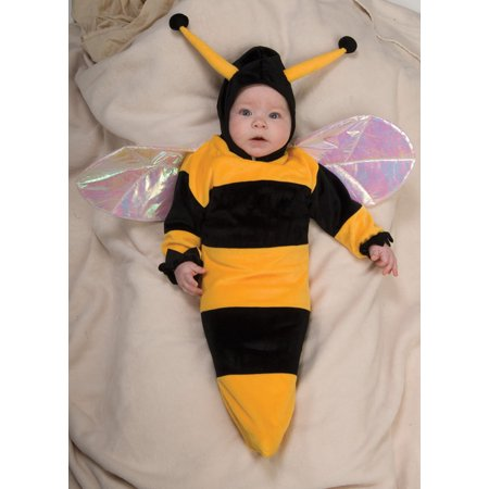 Bumble Bee Bunting Infant Halloween Costume, Size 0-6 Months - Halloween Bunting Crochet Pattern