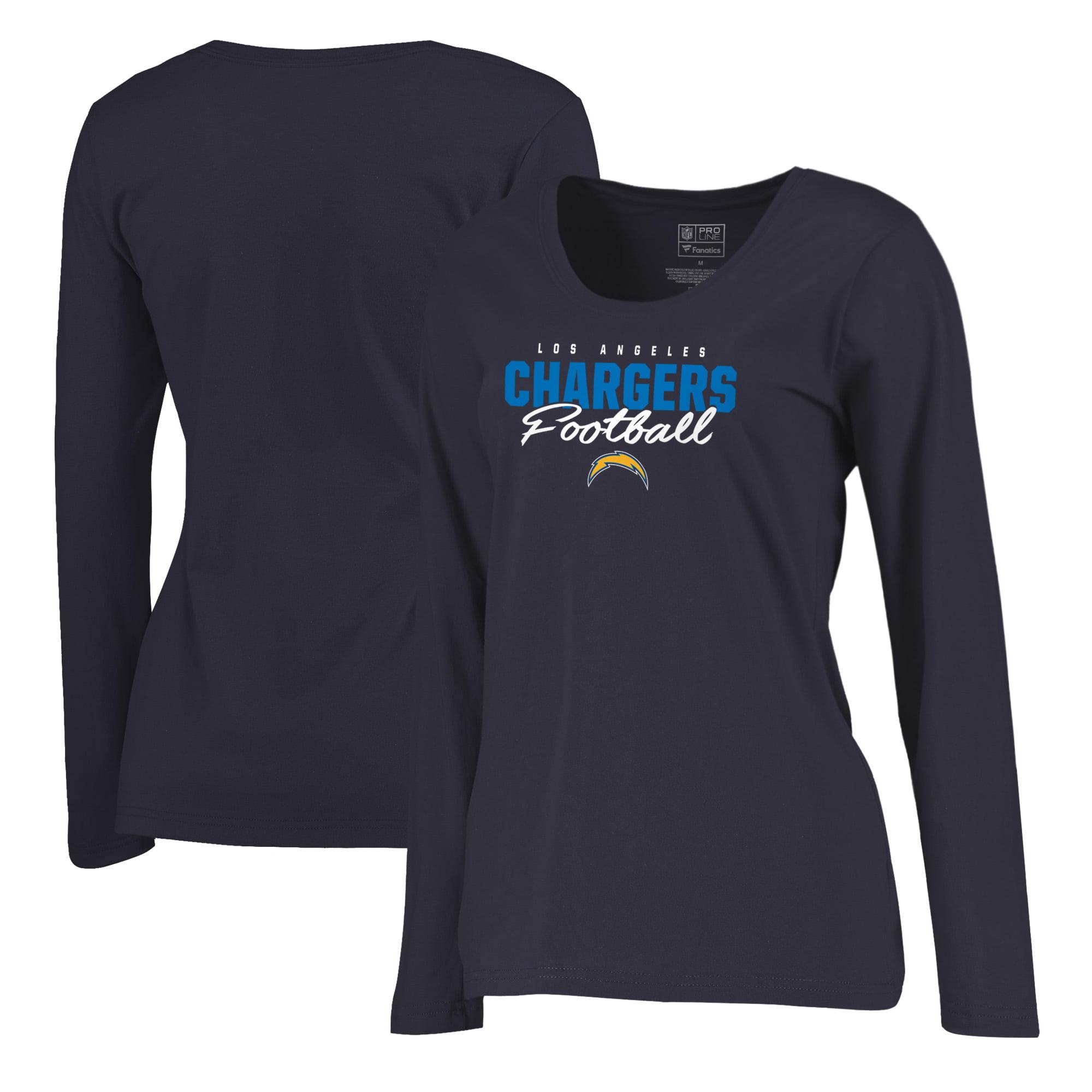 Los Angeles Chargers NFL Pro Line by Fanatics Branded Women s Iconic  Collection Script Assist Plus Size Long Sleeve T-Shirt - Navy - Walmart.com 10ef1ec46