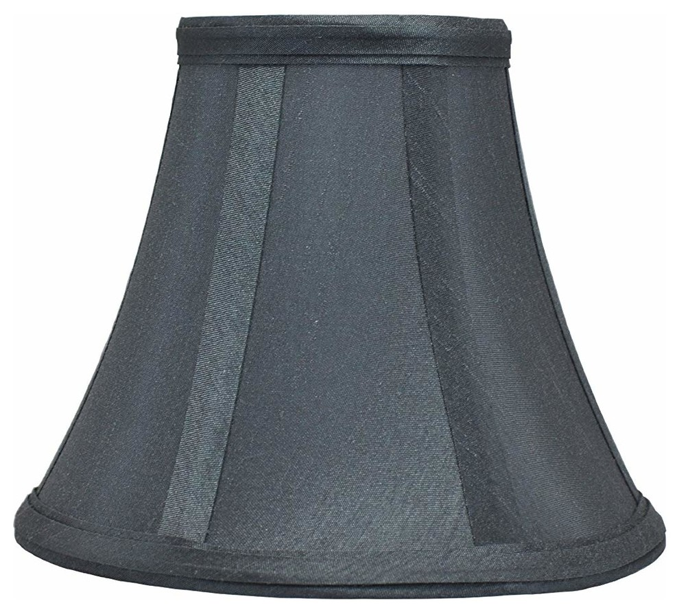 "Urbanest Silk Bell Chandelier Lamp Shade, 3x6x5"", Gray, Single"