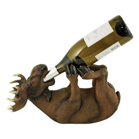 Vintage Bottle Holder, Moose Decorative Kitchen Countertop Bottle Wine Holder