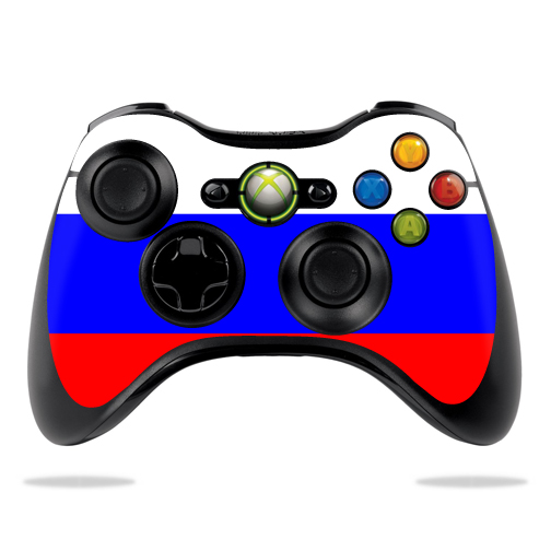 Protective Vinyl Skin Decal Cover for Microsoft Xbox 360 Controller wrap sticker skins Russian Flag