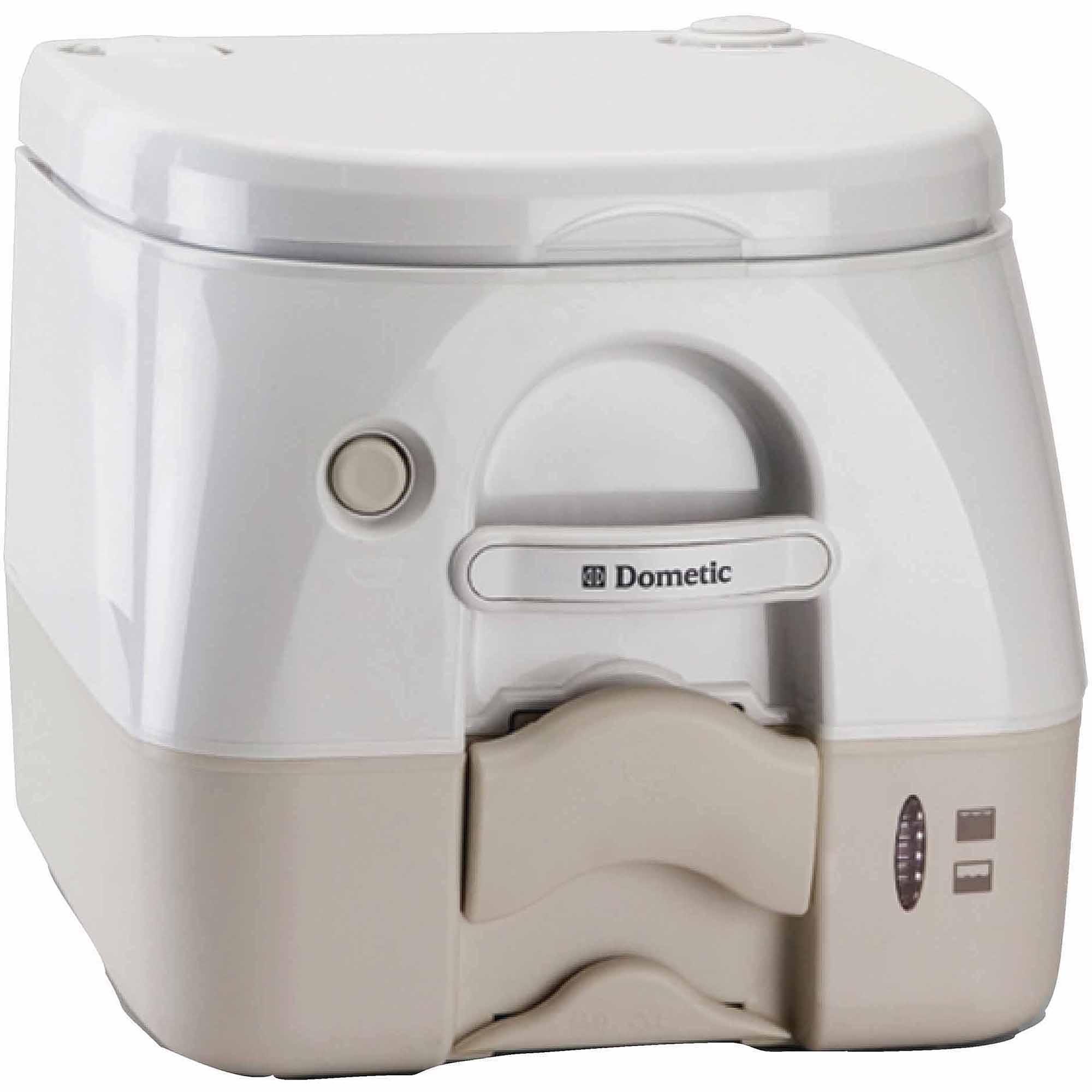 SeaLand 2.5 Gallon Full Size SaniPottie 975MSD Portable Toilet with Push Button Flush
