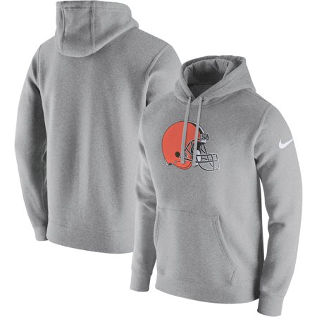Cleveland Browns Nike Club Fleece Pullover Hoodie - Heathered Gray