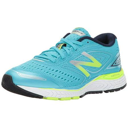 07f9ec80 New Balance Boys' KJ880V7 Running Shoe, Blue/Lime, 3.5 D Little Kid US
