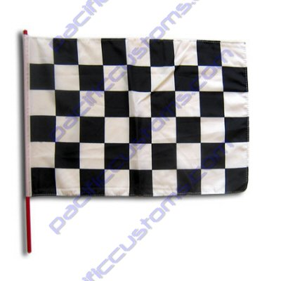 Small 12 Inch X 20 Inch Replacement Black And White Checkered Flag For Whip (Replacement Glass Vaporizer Whip)