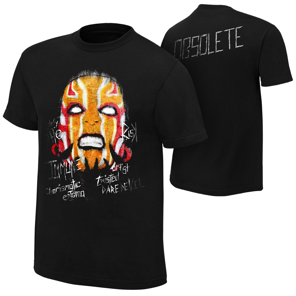 "Official Wwe Authentic Jeff Hardy ""Obsolete"" Youth  T-Shirt Black Small"