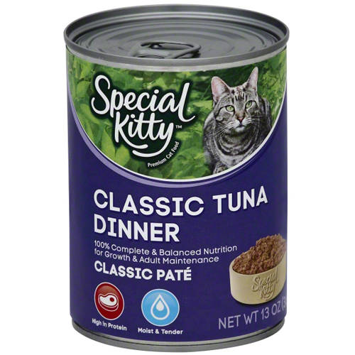 Special Kitty Classic Pate Wet Cat Food, Classic Tuna Dinner, 13 oz