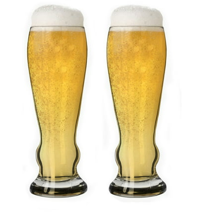 - Couple iconic draft Pilsner shape Beer Glass 11 oz with Solid base (2 Pcs)