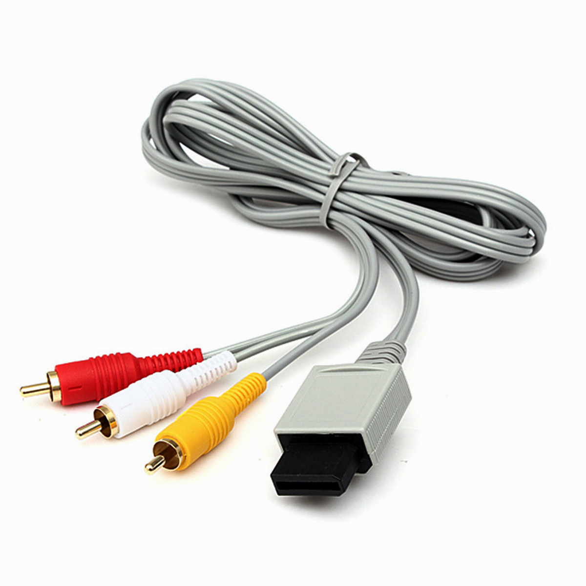 6ft 3-RCA Composite Audio Video AV Cable Cord for Nintendo Wii Console