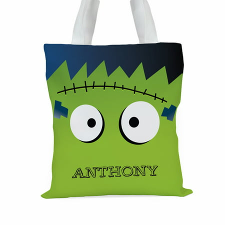 Monster Personalized Large Halloween Trick or Treat Tote Bag](Best Halloween Bars Denver)