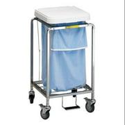 R&B WIRE PRODUCTS INC. 682W Laundry Hamper Cart, 1 Comp, Wht, 3.5 cu ft