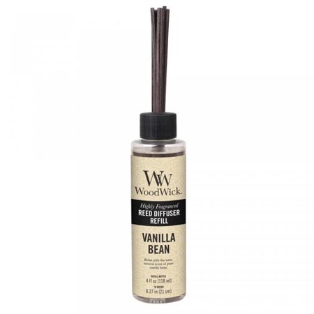 Woodwick Candle Reed Diffuser Refill 4 Oz. - Vanilla (French Vanilla Reed Diffuser)