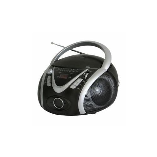 Naxa Portable MP3/CD Player with AM/FM Stereo Radio & USB Input - Compact Boombox, USB, Analog Tuning, 2.4W Full Range S