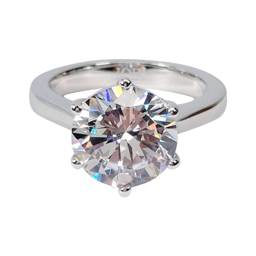 Diamond Rings For Sale Walmart: Victoria 4CT Round Cut IOBI Simulated