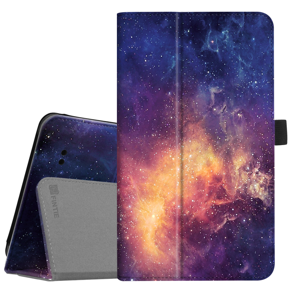 "Fintie Folio Case for 8"" T-Mobile Alcatel A30 Tablet (Model 9024W) - Premium PU Leather Standing Cover, Galaxy"