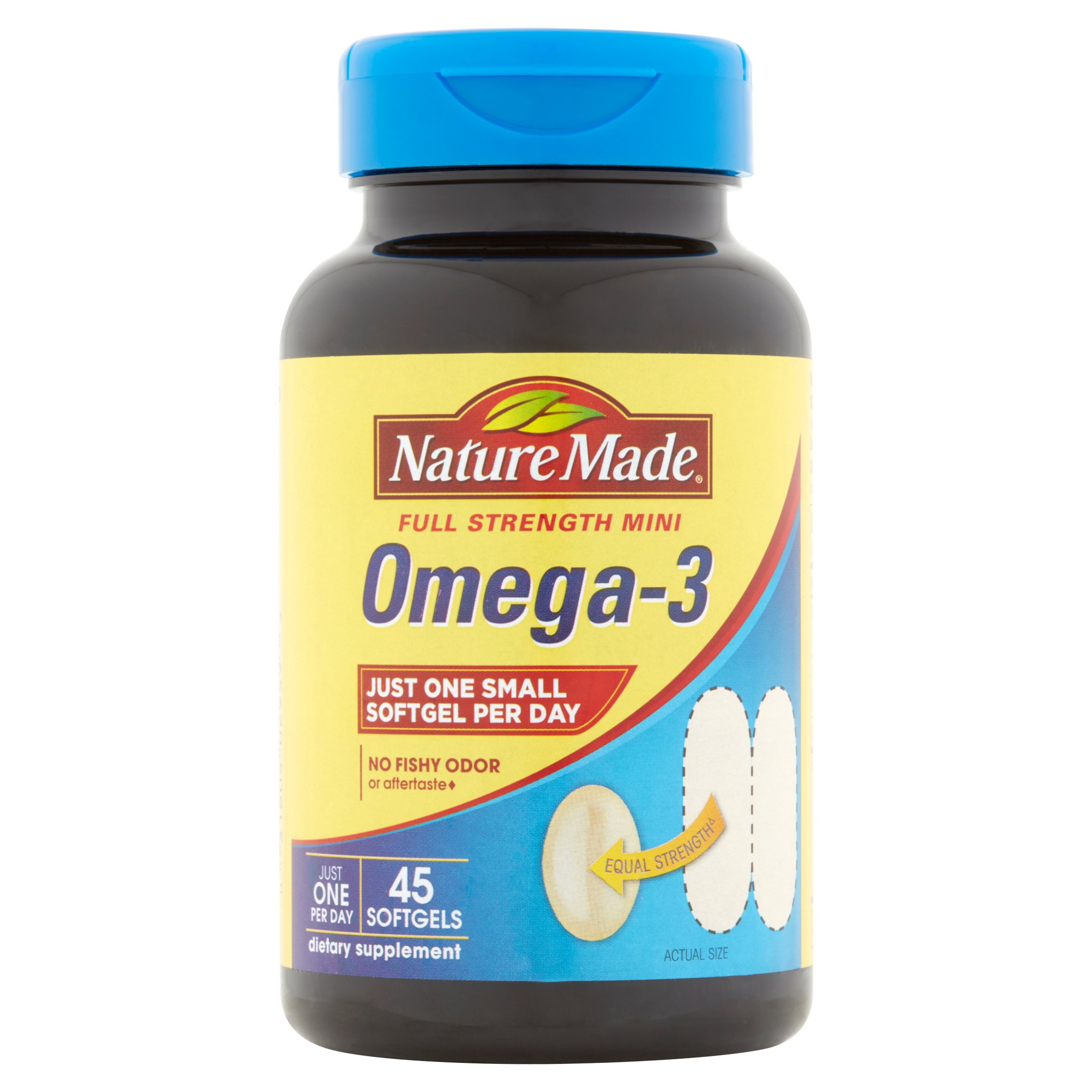 Nature Made Full Strength Mini Omega-3 Softgels, 45 count