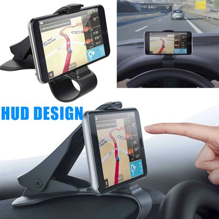 TSV Universal Car Dashboard Cell Phone GPS Mount Holder Stand Cradle HUD Design Clip Cradle for Iphone XS XR X 8 7 Plus Samsung Galaxy Note 10 9 8 S8 S9 S10 Plus Huawei P30 P30 Pro Mate 30 20 Pro (Galaxy Note 4 Car Mount)