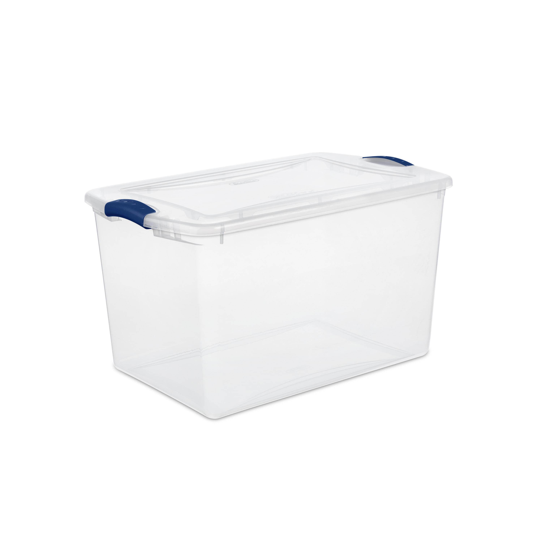 Sterilite, 66 Qt./62 L Latch Box, Stadium Blue