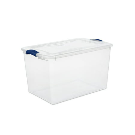 Sterilite, 66 Qt./62 L Latch Box, Stadium Blue