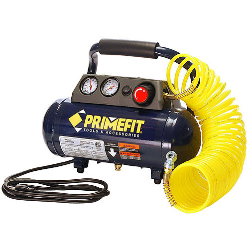 PrimeFit 1-Gallon, 125 PSI Home Workshop Air Compressor