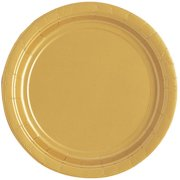 Gold Paper Dessert Plates, 7in, 20ct