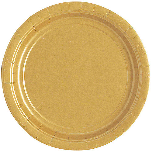 Paper Plates 7 in Gold 20ct  sc 1 st  Walmart & Paper Plates 7 in Gold 20ct - Walmart.com