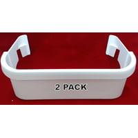 2 Pk, Freezer Door Bin, White, for Frigidaire, AP2115974, 240351601