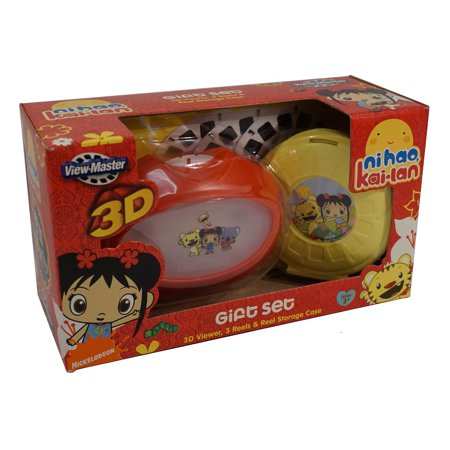 Learning 3d Reels - View Master: Ni Hao, Kai-Lan Gift Set ~ 3D Viewer, 3 Reels & Reel Storage Case