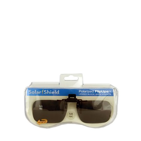 b6243f18de Solar Shield - PolarAB FlipUp Rectangle 58 Sunglasses - Walmart.com