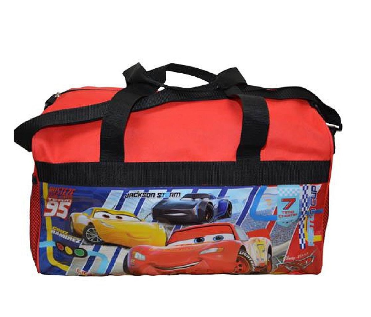 Mozlly Disney Pixar Cars Duffle Bag (Multipack of 3) Novelty Character Travel Accessories by United Pacific Design