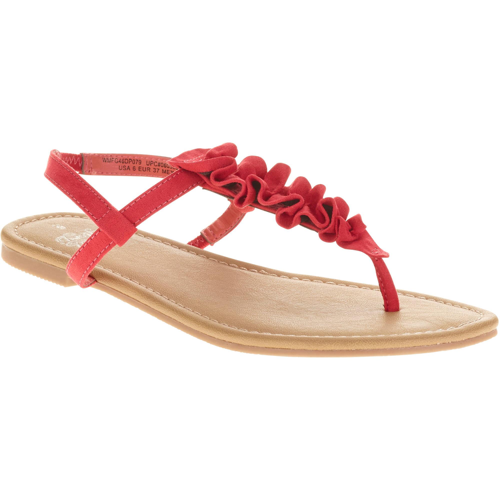 Faded Flory Women's Ruffle Sandal