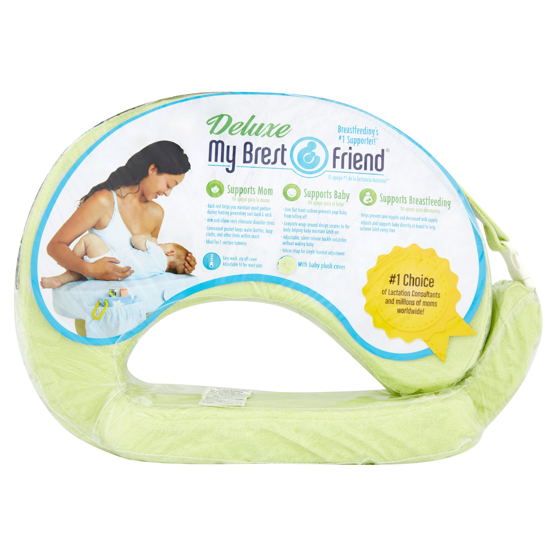 My Brest Friend Green Deluxe Feeding and Nursing Pillow