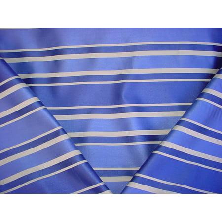 size 40 2c816 f97c5 39H1 - Navy Blue   Royal Blue   White Satiny Stripe Designer Upholstery  Drapery Fabric - By the Yard - Walmart.com