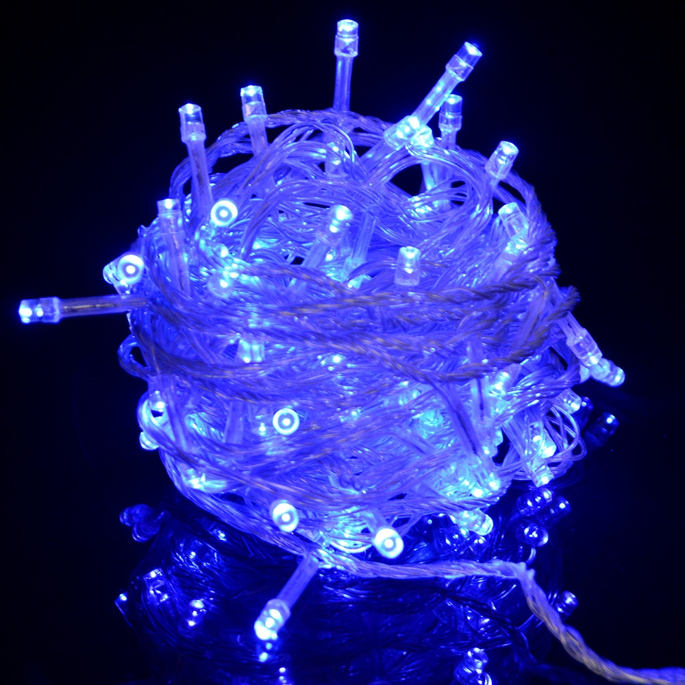 100 Led 10m Christmas Wedding Multi Color Fairy String Lights with 8 Function Controller