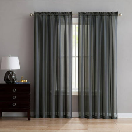 - Better Homes and Gardens Satin Stripe Window Curtain Panel, Multiple Sizes and Colors Available
