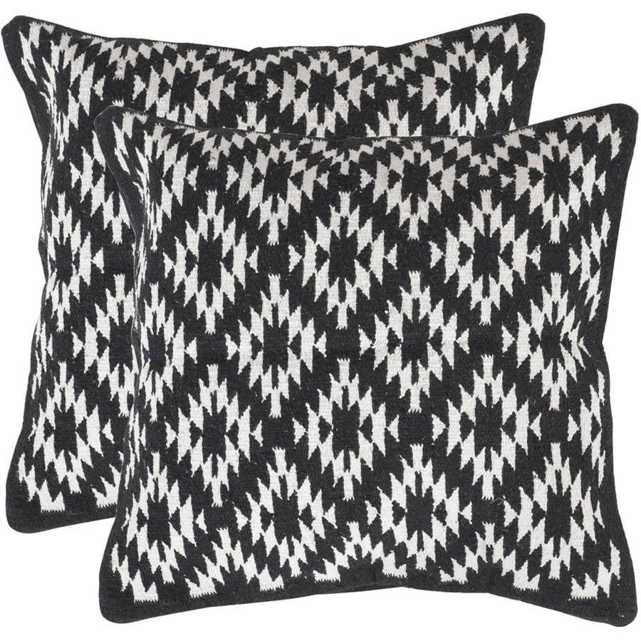 Safavieh Navajo Diamond Pillow, Multiple Color, Set of 2