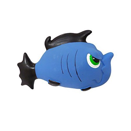 Premium Dog Toy   Stuffed Latex Angry Blue Fish   7.5 Inch (Stuffed Dog Toys)