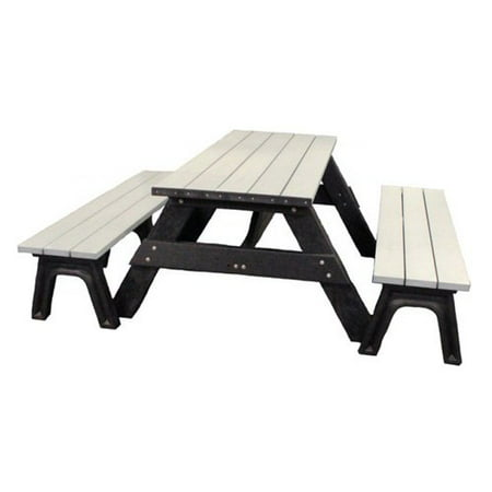 This button opens a dialog that displays additional images for this product  with the option to zoom in or out. - Polly Products Deluxe 6 Ft. Recycled Plastic Picnic Table With