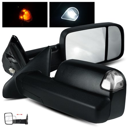 ModifyStreet Side Towing Mirrors for 2009-2017 Ram Truck 1500/2010-2017 Ram 2500/3500 with Power/Heated/Clear Turn Signal