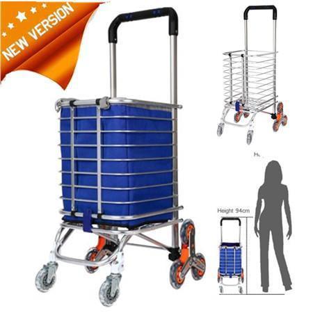 - Aluminum Folding Swivel Wheel Grocery Laundry Cart Travel Shopping Cart HFON