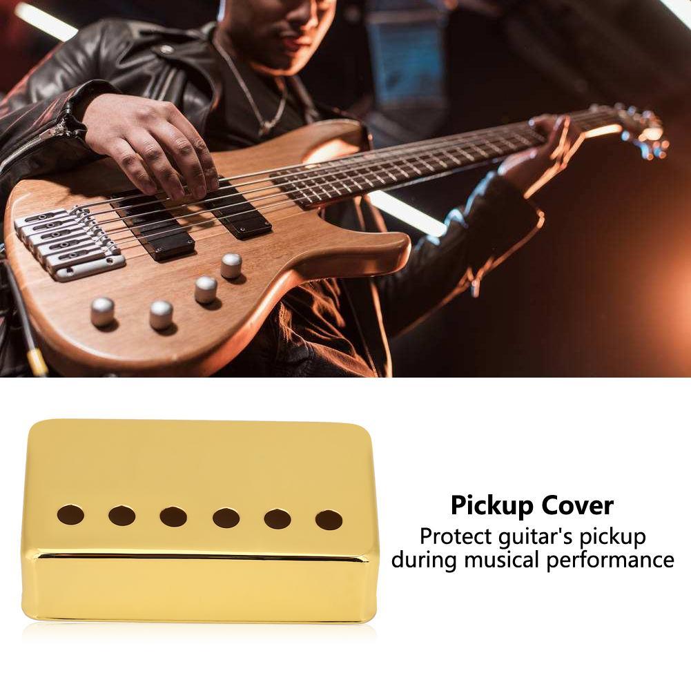 2pcs/set Metal Guitar Pickup Case Brass Humbucker Cover for Neck & Bridge of Electric Guitars Guitar Pickup Cover Pickup Cover